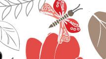 Fondo floral con mariposas