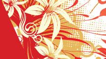 Fondo floral diagonal