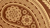 Fondo floral marrón