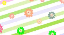 Fondo Floral Rayado
