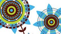 Fondo: flores geométricas