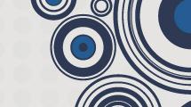 Fondo gris con círculos azules