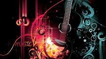 Fondo grunge con guitarra decorada
