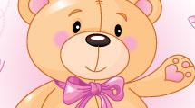 Fondo infantil con oso