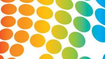 Fondo multicolor con puntos