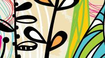 Fondo multicolor floral