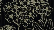 Fondo negro floral