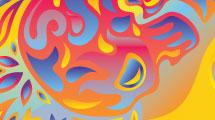 Fondo psicodélico multicolor