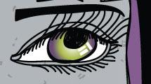 Fondo señorita de ojos grandes