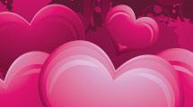 Fondo Valentines de corazones