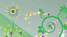 Fondo verde floral