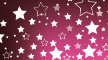 Fondo violeta con lluvia de estrellas blancas
