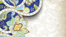 Fondos abstractos con ornamentos y elementos estilo paisley