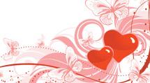 Fondos con corazones y adornos de varios estilos