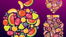 Formas de frutas