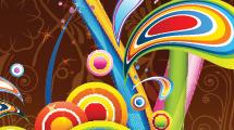 Formas y líneas de colores