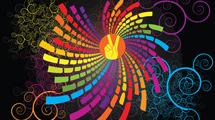Formas y swirls de colores