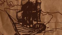 Fragata con mapa