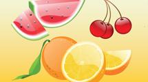 Frutas realistas estilo glossy