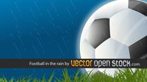 Futbol bajo la lluvia