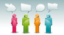 Gente hablando en 3D