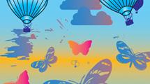 Globos y mariposas