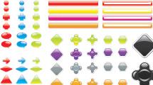 Paquete con botones y elementos web