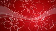 Grandes flores rojas