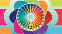 Gráfico geométrico a colores