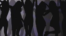 Grupo de chicas bailando