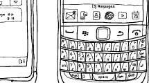 Grupo de dibujos de smartphones
