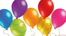 Grupo de globos en 7 colores