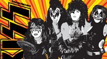 Grupo Kiss vectorizado, banda completa y logo