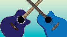 Guitarras acústicas azules