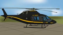 Helicóptero negro con amarillo