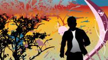 Hombre Corriendo Abstracto