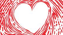 Huella con corazón