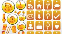 Iconos anaranjados