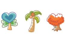 Iconos arboles y plantas