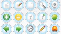 Iconos circulares con bordes punteados