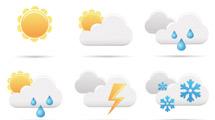 Iconos climáticos cartoon