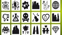 Iconos con dibujos negros