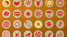 Iconos con objectos