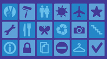 Iconos con signos variados