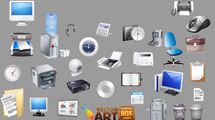 Iconos de accesorios de oficina