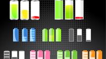 Iconos de baterías