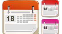 Iconos de calendarios: Puntas redondeadas