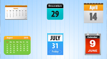 Iconos de calendarios