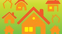 Iconos de casas naranjas