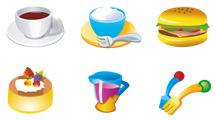 Iconos de comida cartoon
